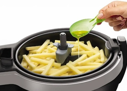 You're ignoring the smoke point of the oil you use in your air fryer