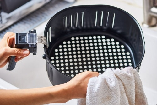 How to clean non stick basket
